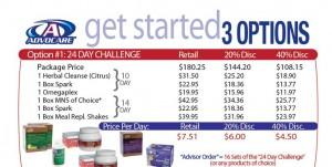 24 Day Challenge Instructions - Brochure - Available Options