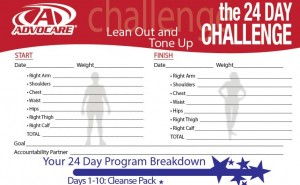 24 Day Challenge Instructions - Brochure - Start up - Measure Chart