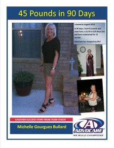 AdvoCare24DayChallengeMichelle2 231x300 45 Pounds in 90 Days
